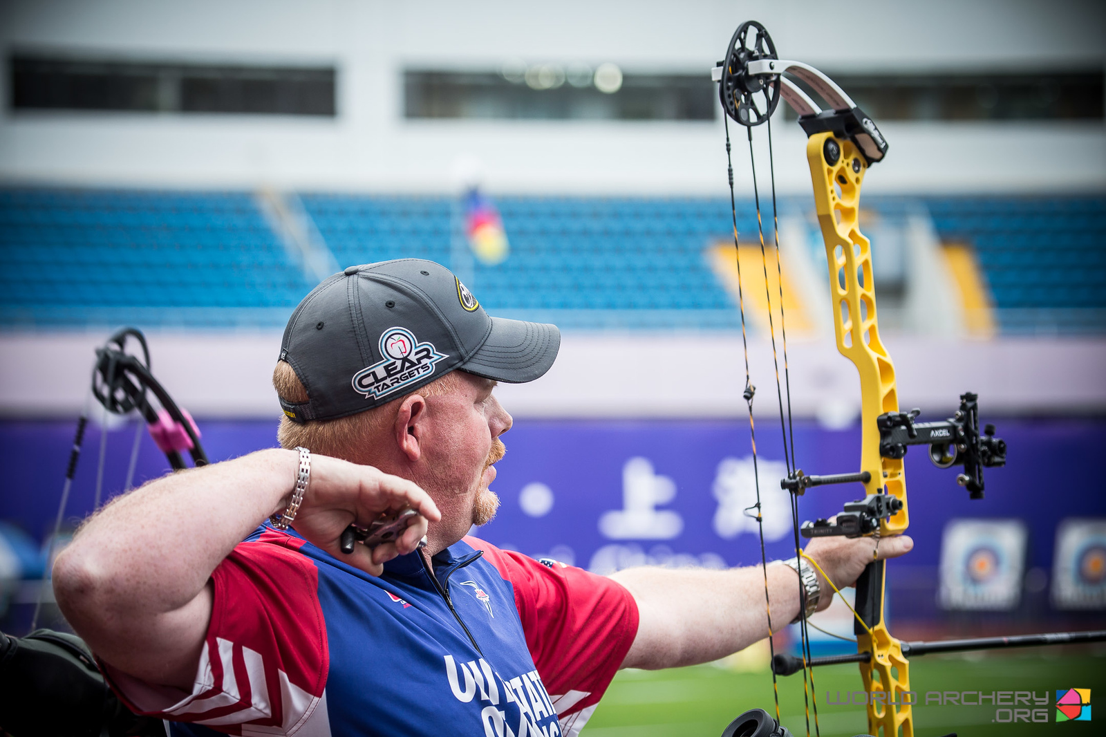 Matt Sullivan took the compound men's pole with a 712. Photo: World Archery