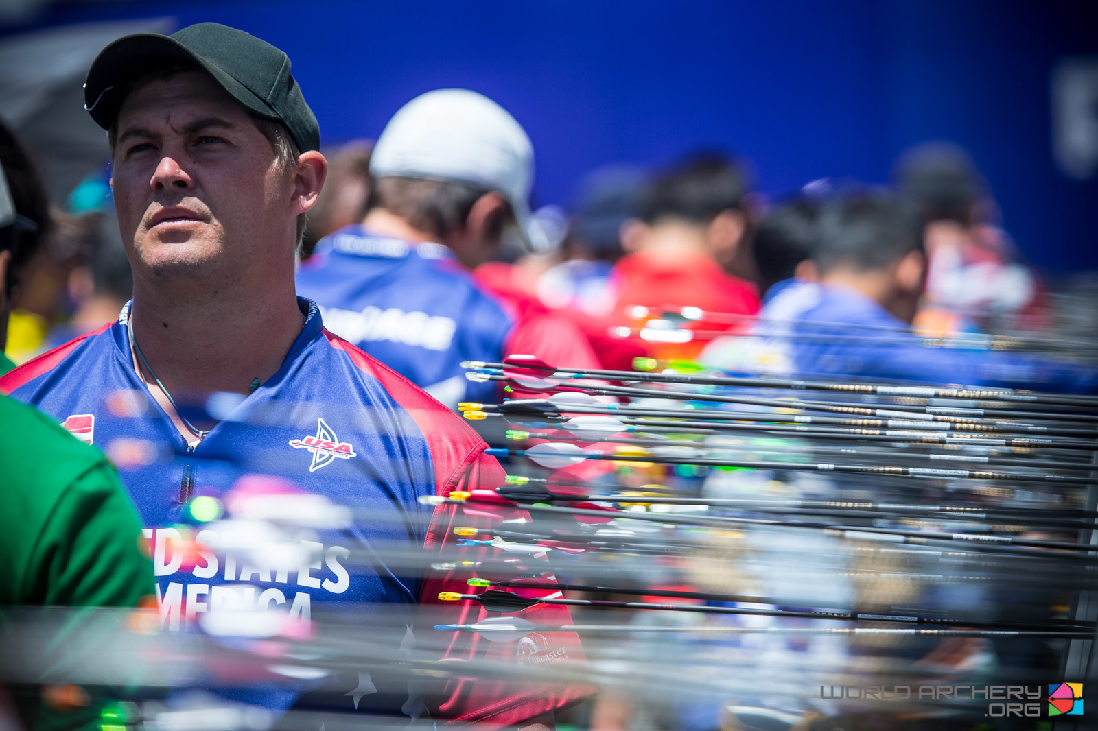 Brady Ellison during another impressive scoring round in Shanghai. Photo: World Archery